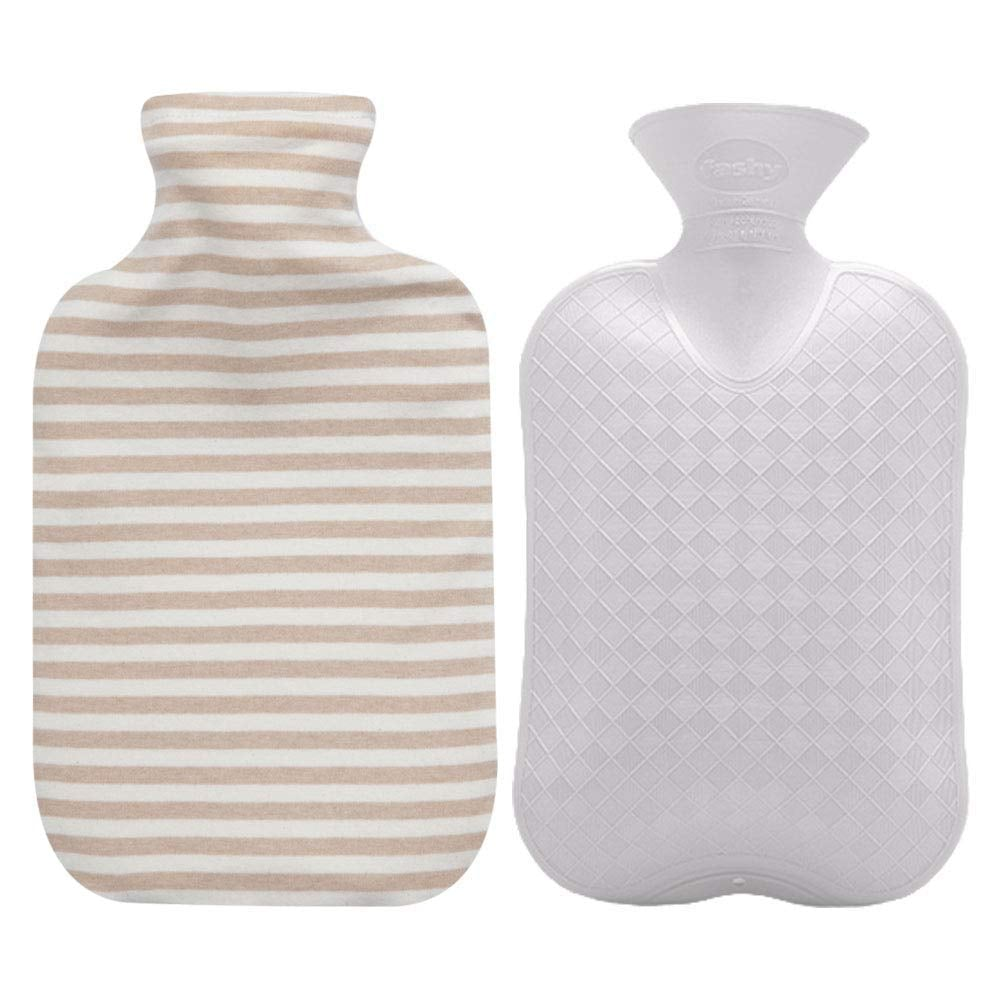 Fashy Hot-Water Bottle With Organic Cotton Cover in Ivory ($26)