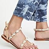 Mystique Sea Shell Strap Toe-Ring Sandals