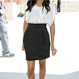 Zoe Saldana looked glamorous while promoting Avatar at Comic-Con in 2009.