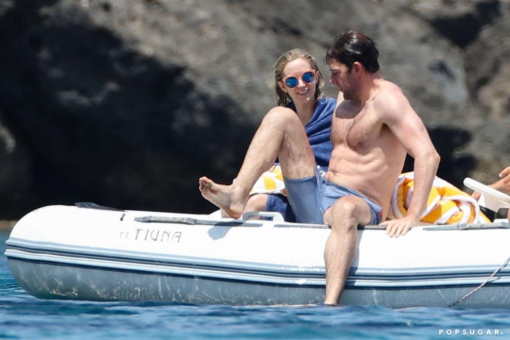 John Krasinski and Emily Blunt at the Beach in Italy 2017