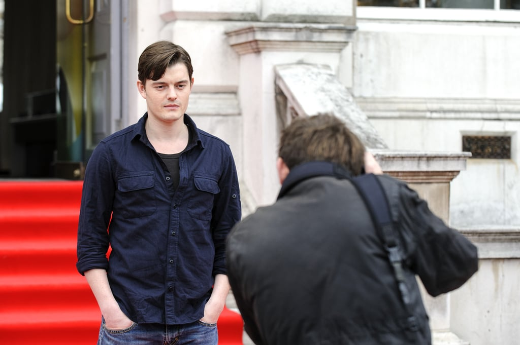 Sam Riley posed for a photo.