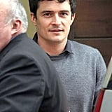 Orlando Bloom stopped by a pet hosiptal in LA.