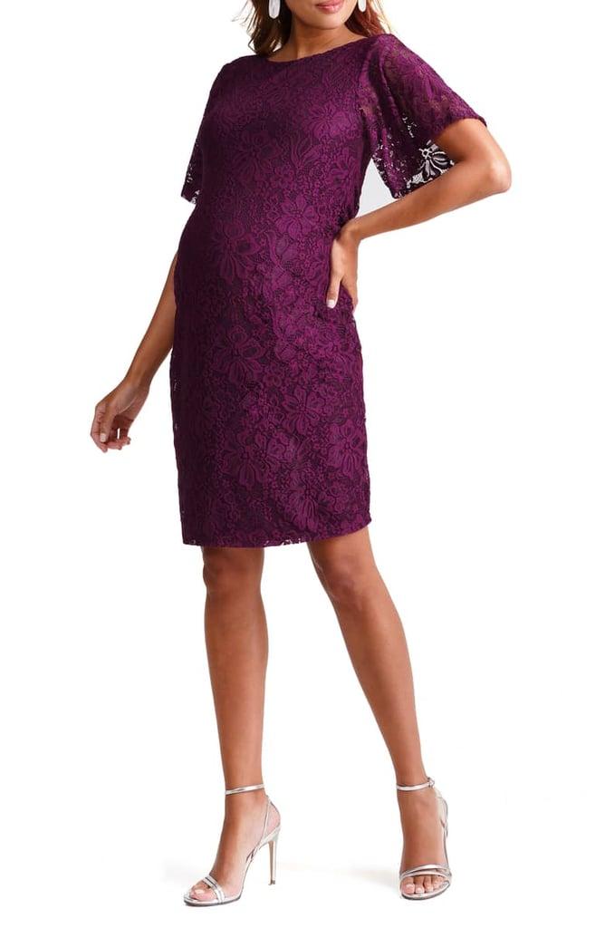 Ingrid Isabel Flutter Sleeve Lace Maternity Dress Nordstrom