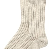 Toast Tipped Cashmere Socks (£22)