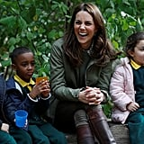When She Had a Giggle Fit With These Schoolchildren