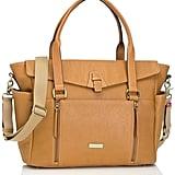 Storksak Infant 'Emma' Leather Diaper Bag