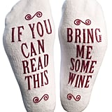 Luxury Combed Cotton Bring Me Some Wine  Novelty Socks