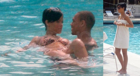 Rihanna and Chris Brown in Jamaica