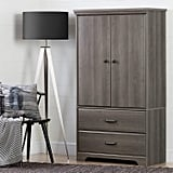 South Shore Armoire With Adjustable Shelves