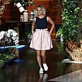Kaley Paired Her Dress With White Stan Smiths