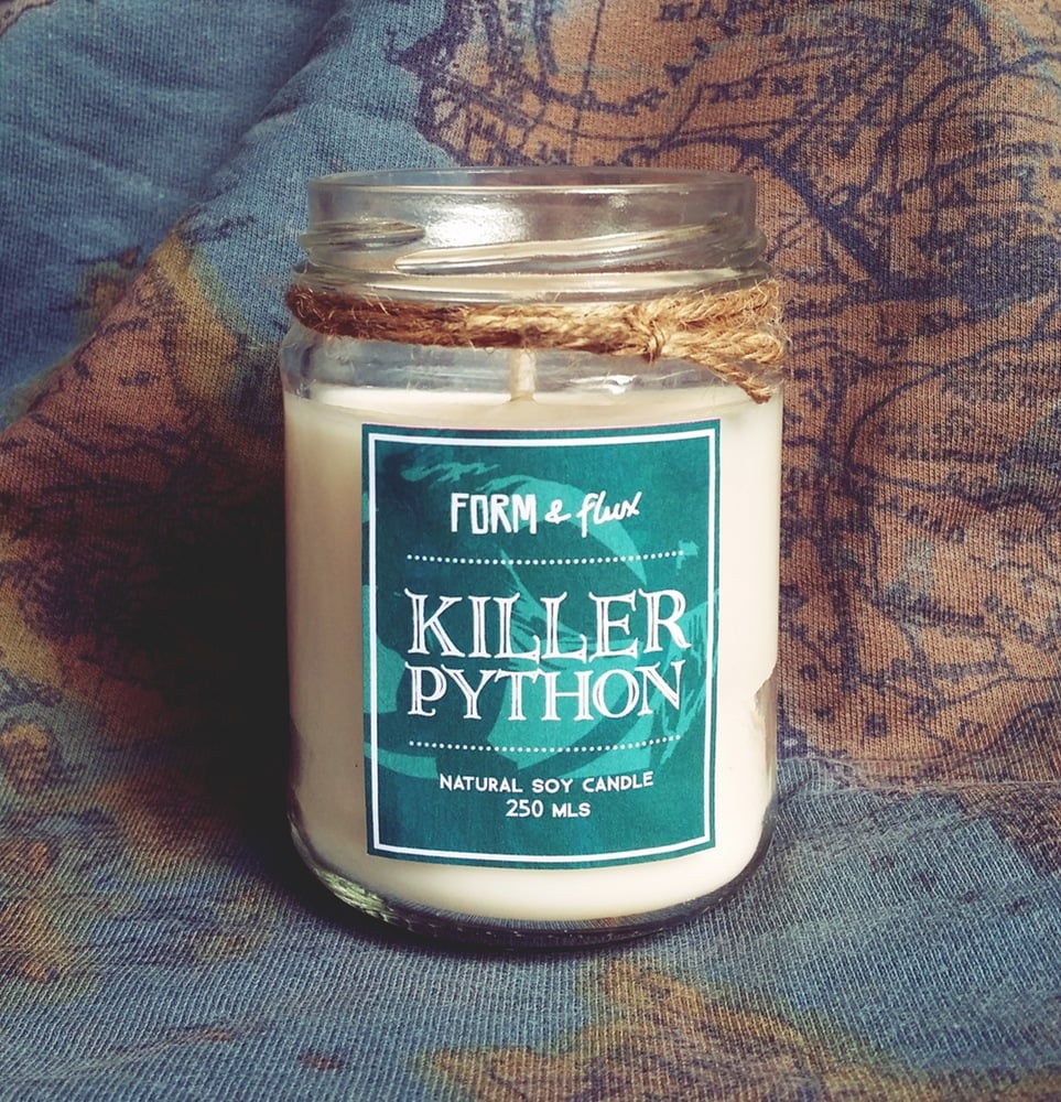 Killer Python candle ($15) with black currant, raspberry, and lime notes