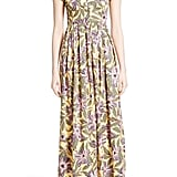 This Red Valentino Floral Print Stretch Poplin Dress ($895) is perfect for a beach wedding.