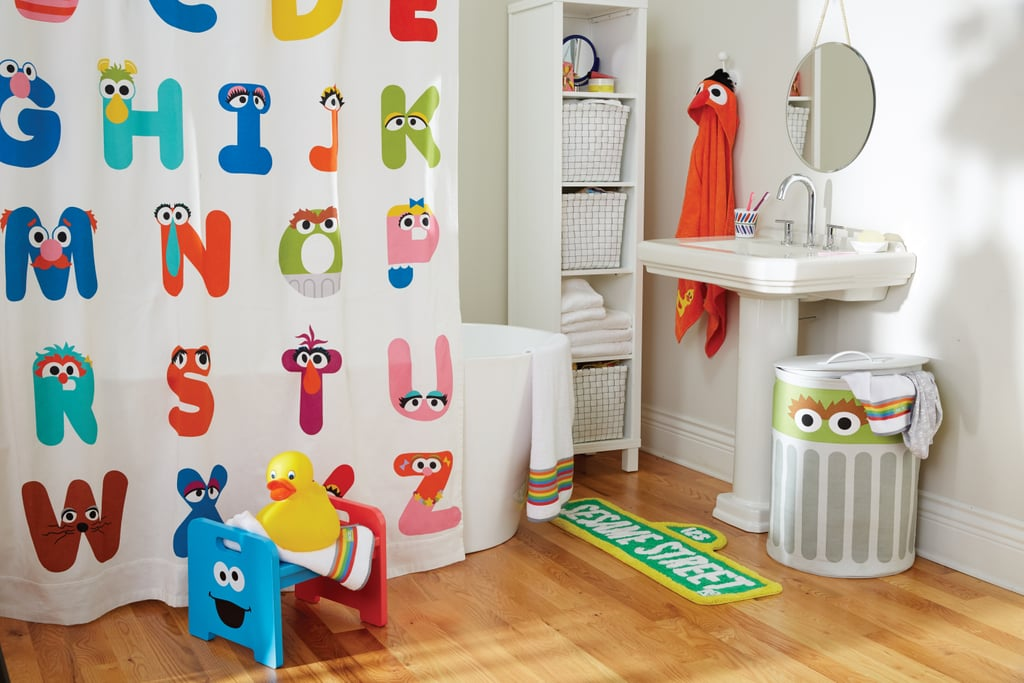Abc Shower Curtain 59 Sesame Street Sign Bath Mat 29