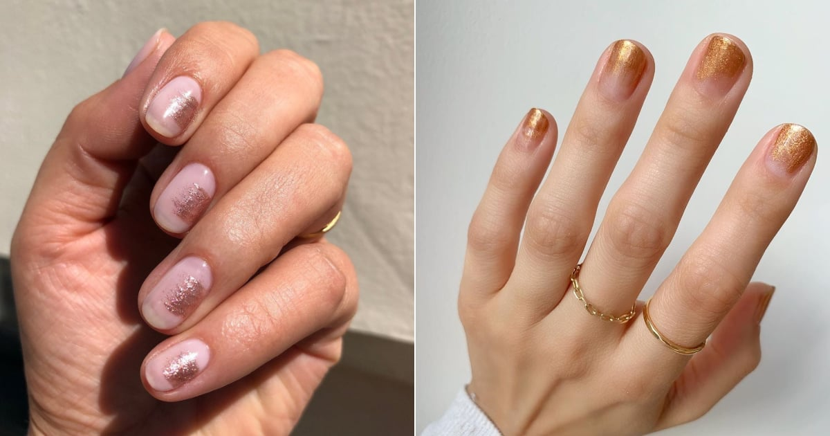 Metallic Brushstroke Nails Are the Perfect Understated Nail Art For the Office