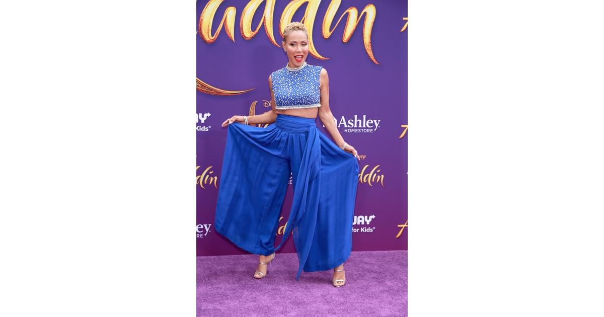 jada pinkett smiths genie outfit at aladdin premiere