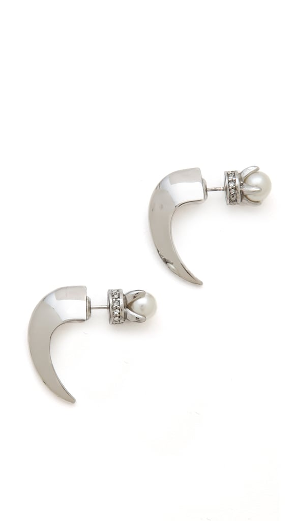 Rebecca Minkoff Double-Sided Pearl Earrings
