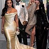 Kim Kardashian, Diddy, Khloé Kardashian, and Kylie Jenner at the Party