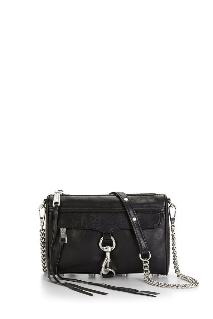 Rebecca Minkoff Black & Silver Mini M.A.C. Crossbody Bag