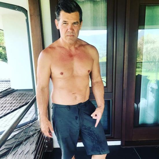 Josh Brolin Shirtless Instagram Photos