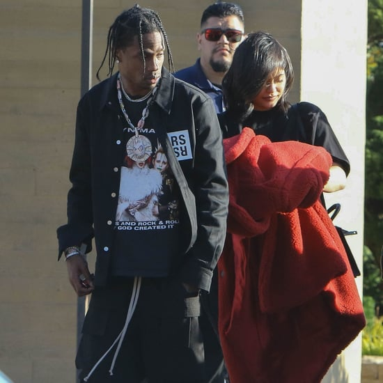 Kylie Jenner and Travis Scott Out After Welcoming Stormi