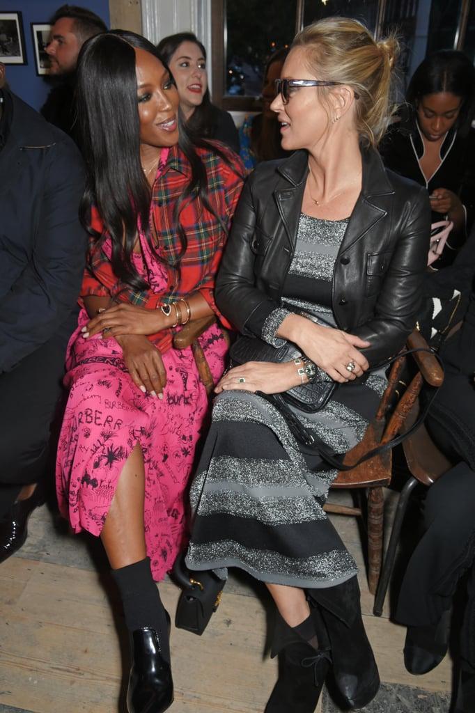 Fashion Royalty Kate Moss and Naomi Campbell Reunite at London Fashion Week