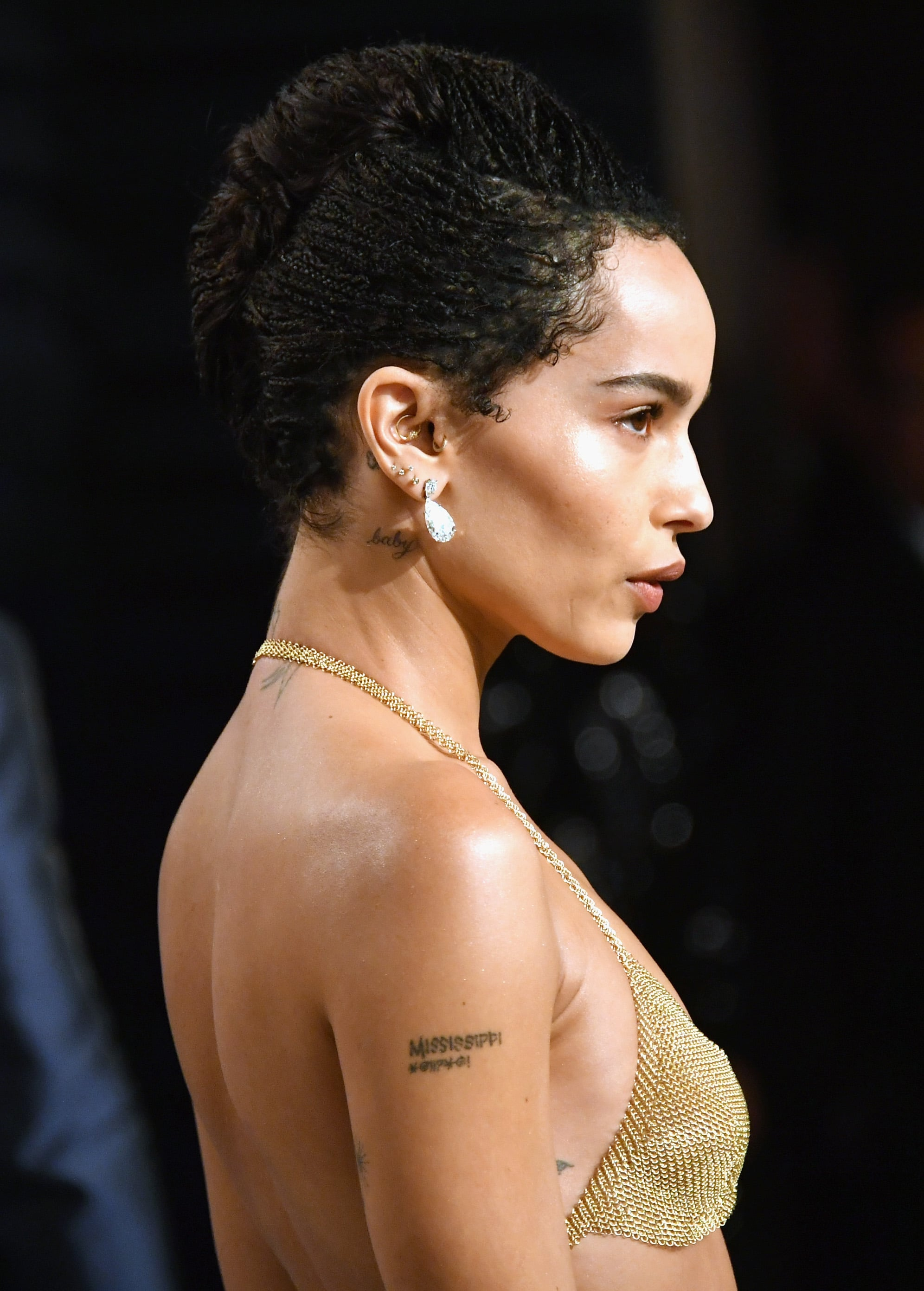 Zoe Kravitz S Braided French Twist 25 Holiday Party Hairstyles For Every Texture And Length Popsugar Beauty Photo 6