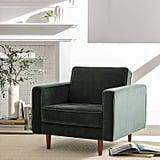 Rivet Aiden Tufted Mid-Century Modern Velvet Accent Chair