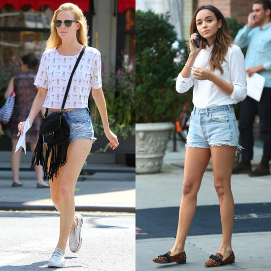 Poppy Delevingne and Ashley Madekwe in Denim Shorts