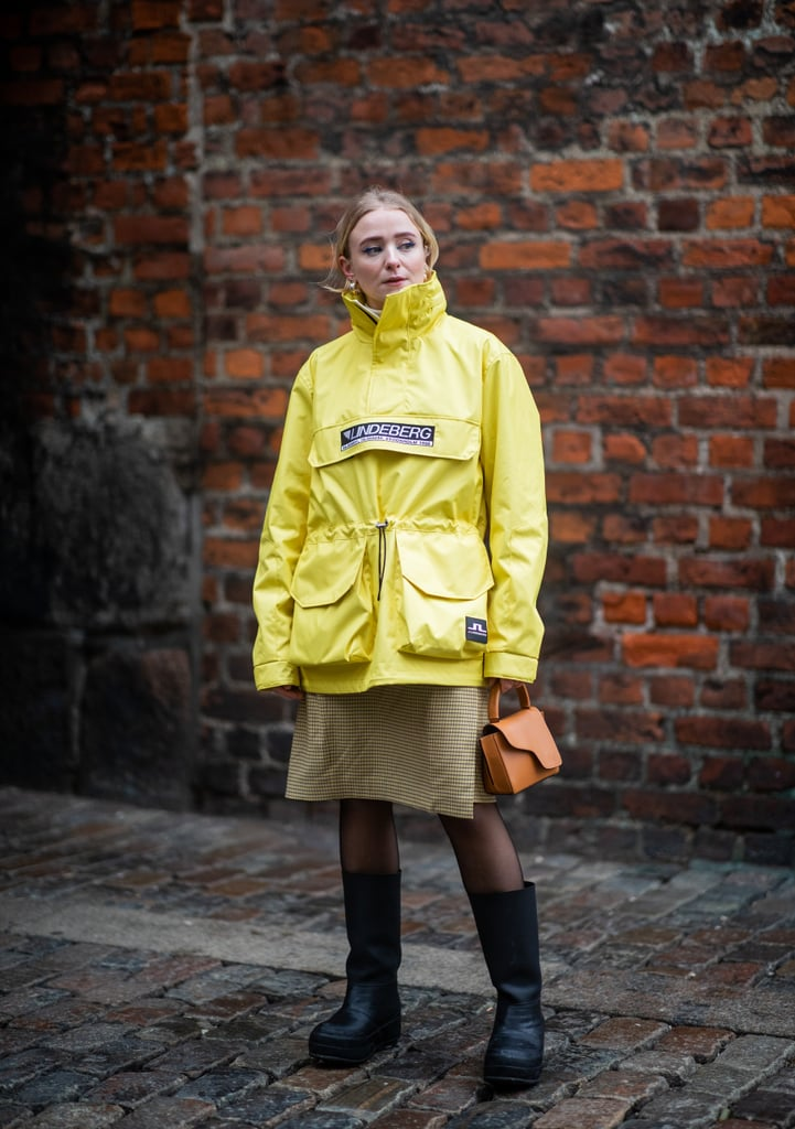 Style a Sporty Coat Over Your Favourite Slip Dress