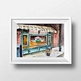 Central Perk Cafe Interior Watercolor Print