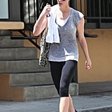 Ashley Greene focused on her fitness with a trip to the gym.