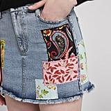 Alice + Olivia Good Patchwork Mini Skirt