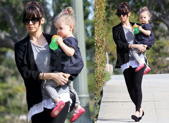 Photos of Nicole and Harlow