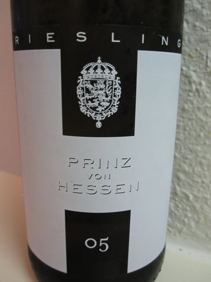 Review of 2005 Prinz Von Hessen Riesling