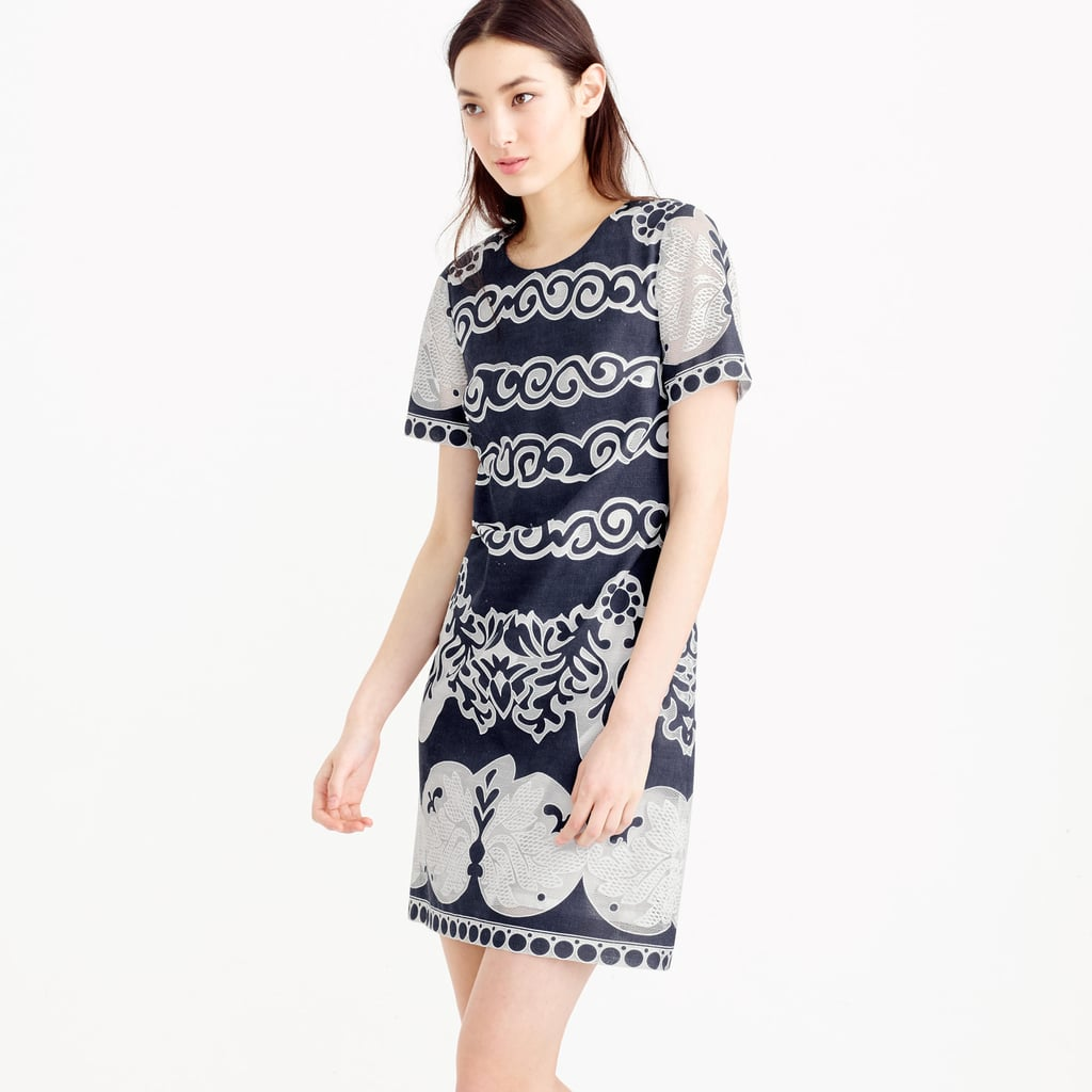 J.Crew Short-Sleeve Shift Dress in Ornate Lace ($148)