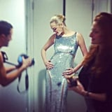 Michael Kors snapped a candid photo of Kate Upton before her red carpet debut. Source: Twitter User MichaelKors