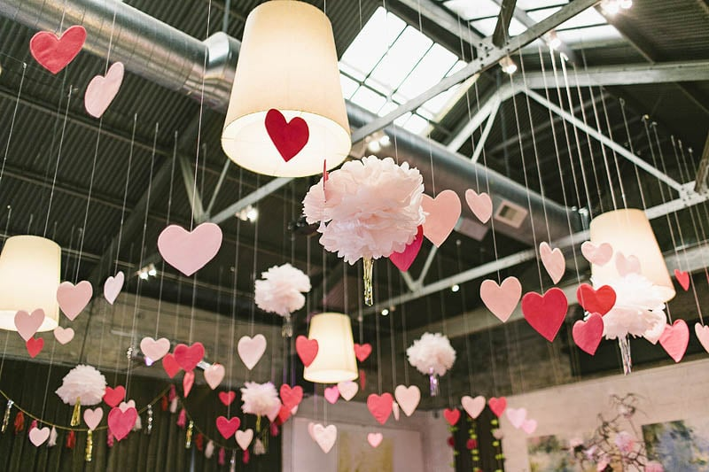 Heart-Filled Ceiling Decor