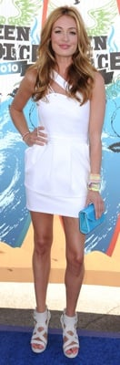 Cat Deeley Wears a Preen Dress to the 2010 Teen Choice Awards