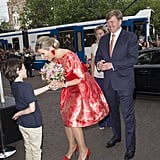 Queen Máxima and King Willem-Alexander at the opening of the Holland Festival in Amsterdam.