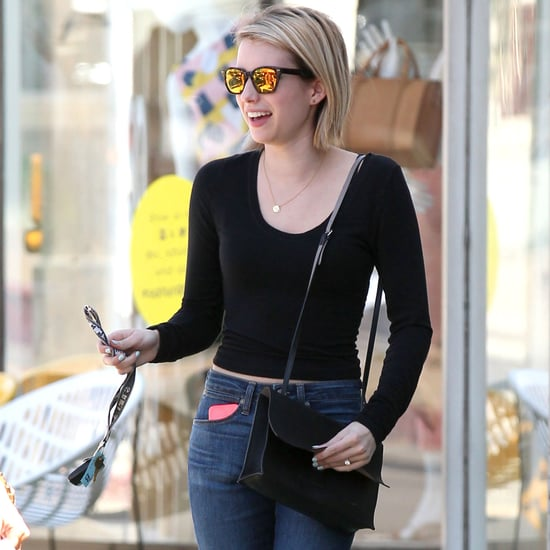 Emma Roberts Wearing High-Waisted '90s Jeans