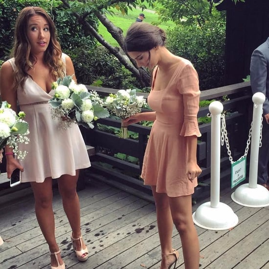 Emily Ratajkowski's Bridesmaid Dress Instagram Oct. 2016