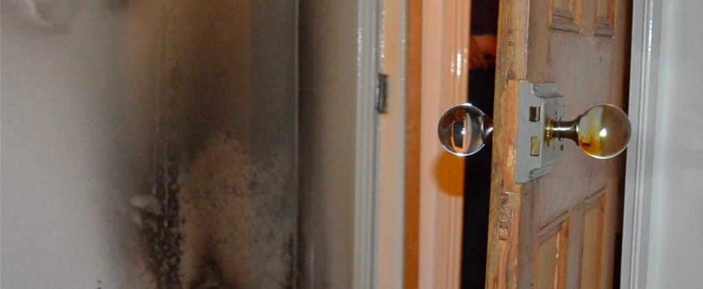 المقابض الزجاجية للأبواب يمكن أن تسبب الحرائق