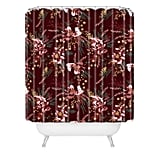 Wild Poppy Burgundy Shower Curtain