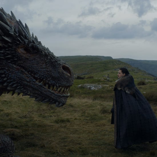 Jon Snow Meets Drogon on Game of Thrones