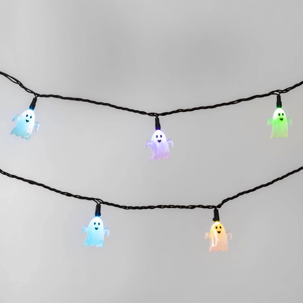Color-Changing Ghost Halloween LED String Lights