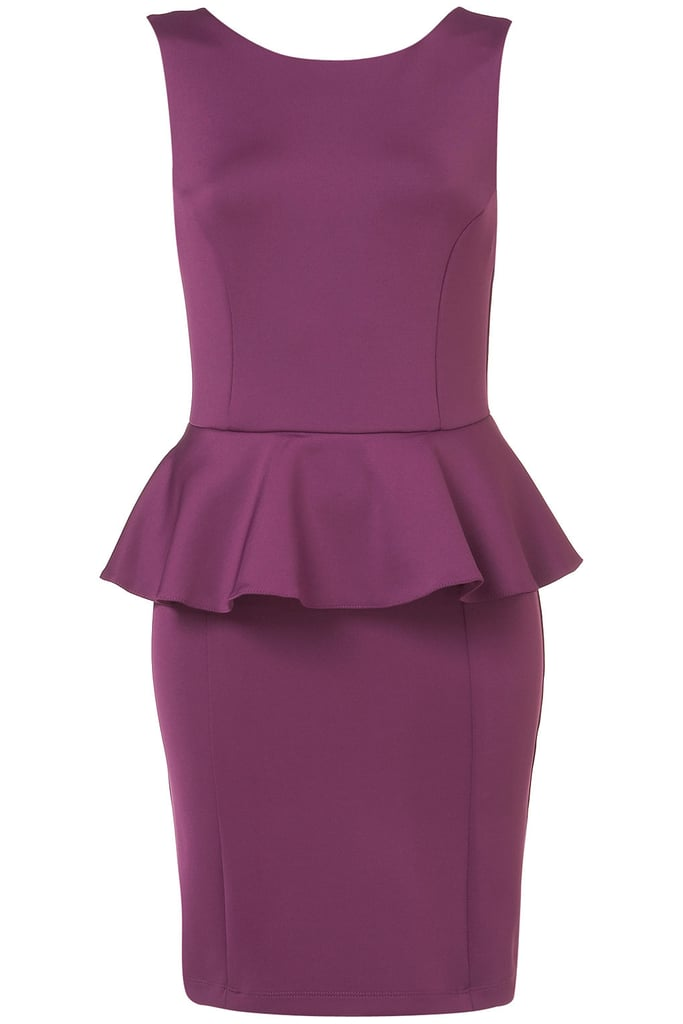 We're loving the simple (yet on-trend) silhouette of Topshop's Scuba Peplum Pencil Dress ($96).