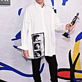 Menswear Designer of the Year and Womenswear Designer of the Year: Raf Simons of Calvin Klein