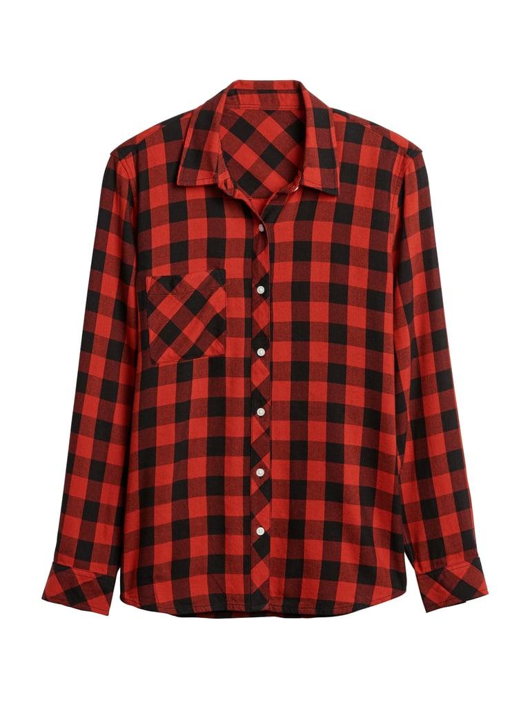 Plaid Flannel Pocket Shirt