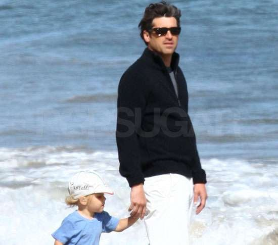 Pictures of Patrick Dempsey With His Son on the Beach in LA