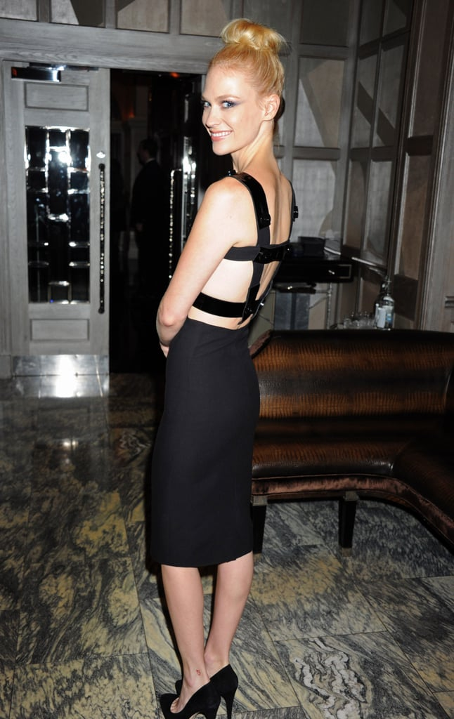 January Jones always manages to surprise with something a little unexpected, like this ultra-sexy revealing back.